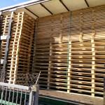 Spremljene drvene palete za isporuku